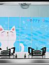 75x45cm Cartoon Cat Pattern Oil-Proof Water-Proof Hot-Proof Kitchen Wall Sticker