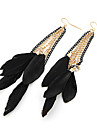 Drop Earrings Alloy Fashion Wings / Feather Feather Black Jewelry Party Daily