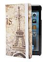 retro Eiffeltoren patroon case w / stand voor iPad mini 3, ipad mini 2, ipad mini