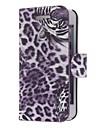 Tiger Pattern Twill PU Leather Full Body Case for iPhone 5 (valinnainen värit)