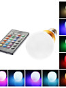 E26/E27 5 W 1 LM RGB/Color-Changing G Remote-Controlled Globe Bulbs AC 85-265 V