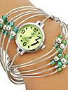 Multi-Strand Anelli Bangle Green Design Quadrante quarzo analogico delle donne