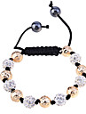 Lureme®Disco Ball with Beads Braided Bracelet