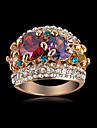 Новое прибытие Благородный многоцветный Циркон обручальные кольца с 18 карат розового золота & Plate чешских свадебных ювелирных кристаллов