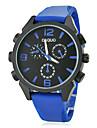 Mannen Arabische cijfers Legering Kies siliconen band quartz analoog horloge (verschillende kleuren)
