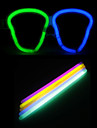 Cranio de Halloween Oculos DIY com varas noctilucentes 10PCS (cor aleatoria)