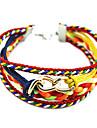 Pure manual weaving multilayer 7 colour combination bracelet B2-252