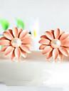 Version Japonaise Et Coréenne Boucles d'oreilles rose du vent modèles de petites boucles d'oreilles fleur de marguerite explosion de modèles E9