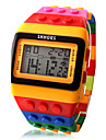 Women\'s Watch Sports Digital Colorful Block Brick Style