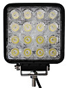 48W 16 LEDs Square Work Light