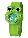 Children's 3D Frog Shape Silicone Band Quartz Analog Slap Wrist Watch Cool Watches Unique Watches Fashion Watch