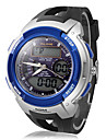 multi-função rodada de marcação elástico desportivo relógio de pulso analógico-digital dos homens (cores sortidas)