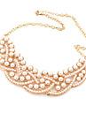 Europa y elegante boutique de Corea del temperamento salvaje de lujo autentica perla collar falso collar corto N342
