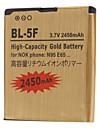 BL-5F-GD 2450mAh Handy-Akku fuer Nokia6210Navigator, 6260slide, 6290, E65, N72 Nseries, N93i, N95, N96