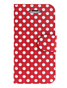 Round Dots PU Full Body Case with Stand for iPhone 5/5S  (Assorted Colors)
