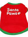 Собаки Футболка Красный Одежда для собак Лето Буквы и цифры