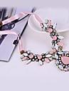 Pink Cherry Blossoms Gem Diamond Necklace pequena seção da clavícula