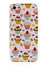 Pretty Strawberry Cakes Pattern TPU Soft Back Case for iPhone 5/5S