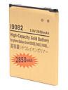 Высокая емкость 2850mAh Extended литий-ионный аккумулятор для золота Samsung дуэта i9082/i9080