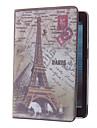 retro Torre Eiffel e carimbo caso padrao para mini-ipad 3, mini iPad 2, iPad mini