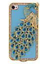 Peacock with Blue Diamond and Crystal Covered Case For iPhone 7 7 Plus 6s 6 Plus SE 5s 5c 5 4s 4
