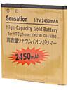 2450mAh Cell Phone Battery for HTC G14 Z710e G17 EV0 3D G18 G21 X315e