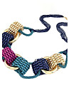 (1 Pc)Vintage (Circle Pendant) Multicolor Alloy Choker Necklace(Multicolor)