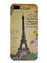 Torre Eiffel de plástico tampa do caso para o iphone 5/5s