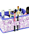 Folding Flower Pattern Quadrate Cosmetics Storage Organizer Stand Box Makeup Brush Pot(3 Color Choose