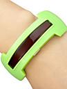 유니섹스 (남녀 공용) 레드 옆의 두개의 다이얼 고무 밴드 팔찌 시계 (분류 된 색깔)를 LED