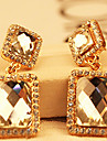 Z&X®  (1 Pc)Fashion (Square) Gold Rhinestone Drop Earrings(Gold)