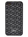 Abweichungen Weiss Net Pattern Matt PC Hard Case fuer iPhone 4/4S (Optional Farben)