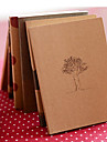 Dream Time Kraft Paper Cover Diary Notebook(Random Color)