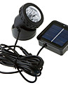 6-LED White Light LED Solar Light Waterproof Garden Outdoor Flood Lamp