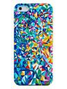 아이폰 5/5S를위한 다채로운 깨진 거울 플라스틱 뒤 케이스