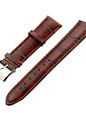Unisex 20mm Craquelure Grain Leather Watch Band (Brown) Cool Watch Unique Watch Fashion Watch