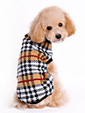 Dog Sweater Brown Dog Clothes Winter Plaid/Check