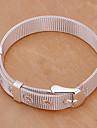 Moda 6,3 centímetros Cadeia de cobre de prata dos homens & Assoc Bracelet (1 Pc)