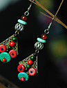 Ethnic (Umbrella) Multicolor Torquise Drop Earrings (1 Pair)