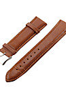 Unisex 22mm Leather Watch Band (Assorted Colors)