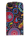 India Flower Pattern PU Leather Full Bady Case for iPhone 4/4S