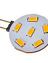 3W G4 Точечное LED освещение 6 SMD 5730 120-150 lm Тёплый белый / Холодный белый DC 12 / AC 12 V