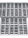 70 pares mistos Estilo Fibra Europeia para cilios preta cilios posticos com uma cola