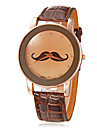 Women's Mustache Pattern Round Dial PU Band Quartz Analog Wrist Watch (Assorted Colors) Cool Watches Unique Watches