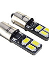 BA9S 1.6W 6x5730SMD 28-35LM 6000K Cool White Light LED Bulb (12V,2 pcs)