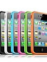 Solid Color Plastic Frame Side Case for iPhone4/4S