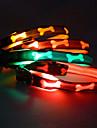 Caes Colarinho Luzes LED Vermelho / Verde / Amarelo / Laranja Nailon