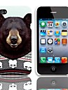 Likable Padrao Urso Hard Case com protetores de tela de 3-Pack para iPhone 4/4S