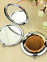 Personalizado Padrao Presente Coracao Chrome espelho compacto