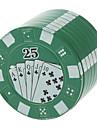 GR00 Poker Style Metal Tobacco Handmuller(Random Color)